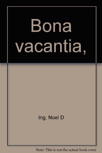 9780406249005: Bona Vacantia