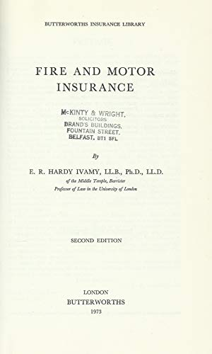 9780406252517: Fire and Motor Insurance (Butterworths insurance library)