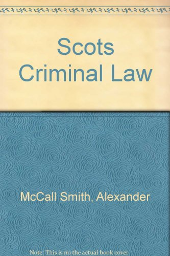 9780406252692: McCall Smith & Sheldon: Scots Criminal Law