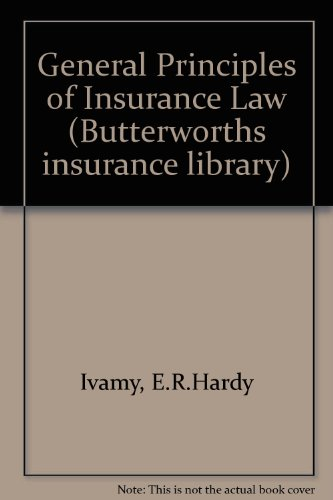 9780406252746: General Principles of Insurance Law (Butterworths insurance library)