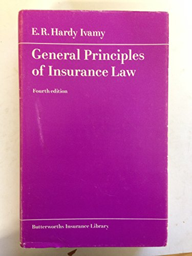9780406252753: General Principles of Insurance Law (Butterworths insurance library)