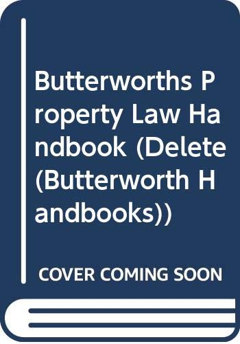 Butterworths Property Law Handbook. Second Edition.: Scamell, Ernest [Ed]