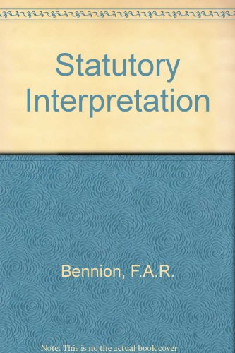 9780406259202: Statutory Interpretation