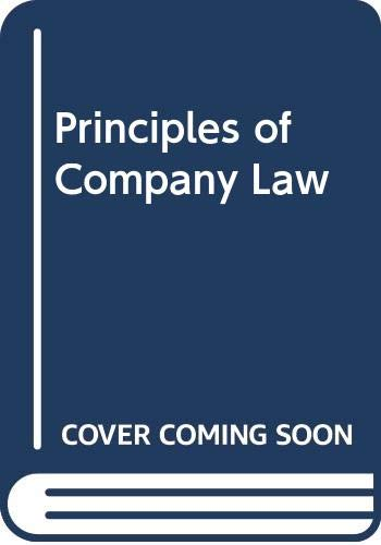 9780406336774: Principles of Company Law