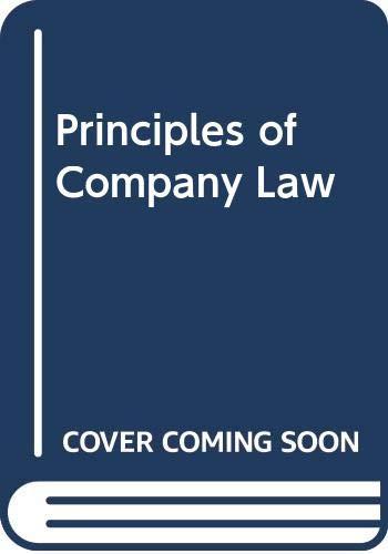 9780406336774: Principles of Company Law