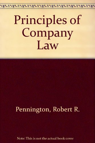 9780406336798: Principles of Company Law
