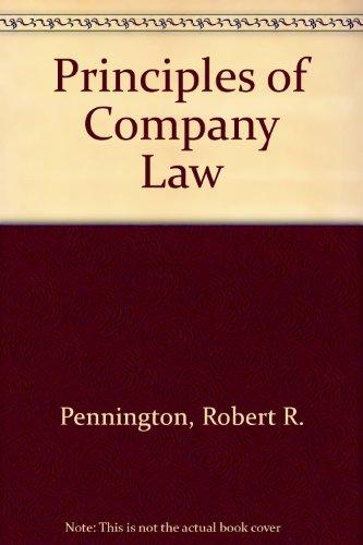 9780406336798: Principles of Company Law