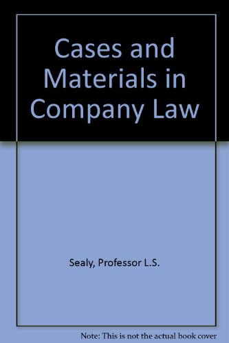 9780406370105: Cases and Materials in Company Law