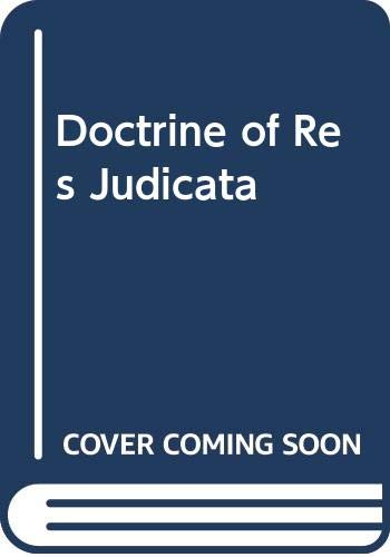 9780406382108: Doctrine of Res Judicata