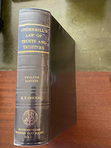 9780406405838: Law of Trusts and Trustees