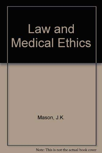 9780406500786: Law and Medical Ethics