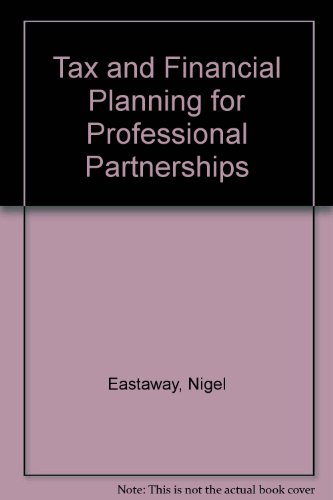 9780406501806: Tax and Financial Planning for Professional Partnerships
