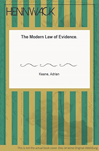 9780406507006: Modern Law of Evidence