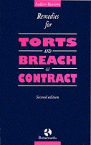 9780406507136: Remedies for Torts and Breach of Contract