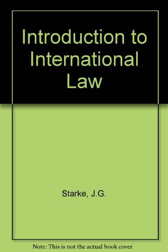 9780406513007: Introduction to International Law