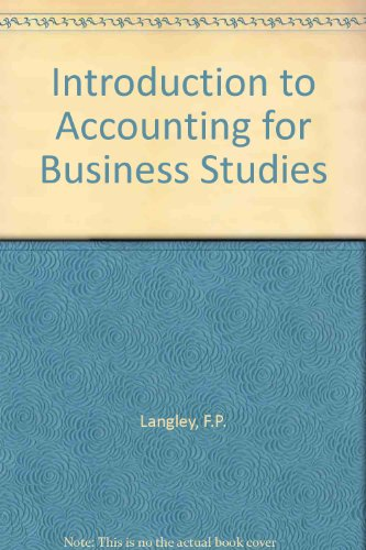 9780406513700: Introduction to Accounting for Business Studies
