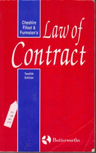 9780406514912: Cheshire, Fifoot, and Furmston's Law of Contract