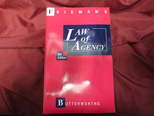 Law of Agency: Fridman, G.H.L.