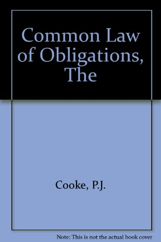 9780406519016: Common Law of Obligations
