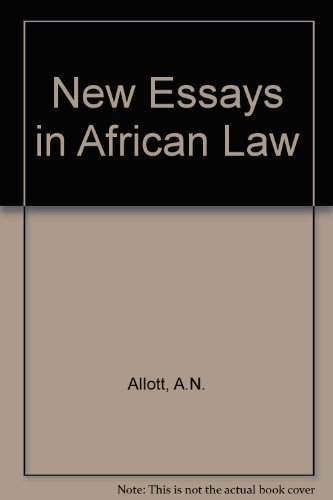 New Essays in African Law: Allott, A.N.