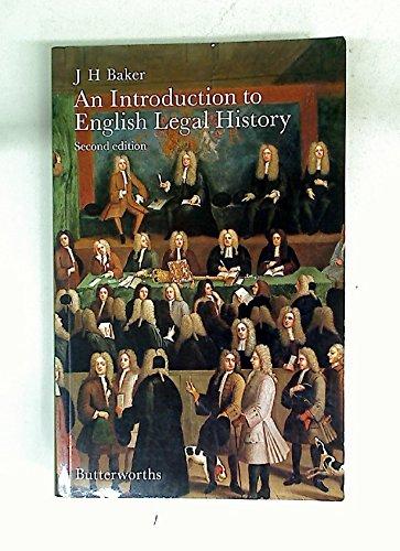 An introduction to English legal history: Baker, John Hamilton
