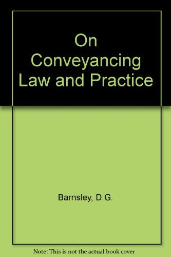 9780406556301: On Conveyancing Law and Practice
