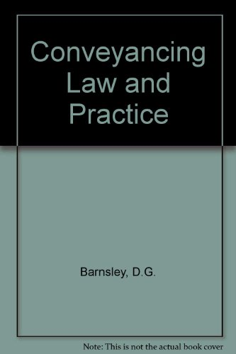 9780406556325: Conveyancing Law and Practice