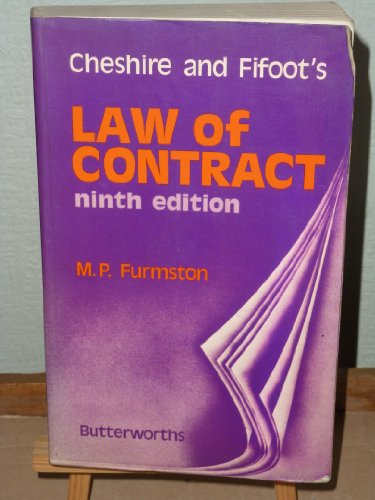 Cheshire and Fifoot's Law of Contract: Furmston m p