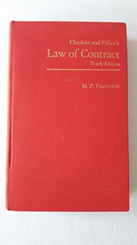 Law of Contract: Furmston, M.P. (ed)