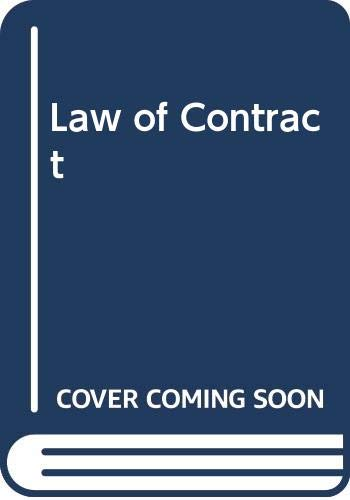 CHESHIRE AND FIFOOT'S LAW OF CONTRACT: M.P FURMSTON