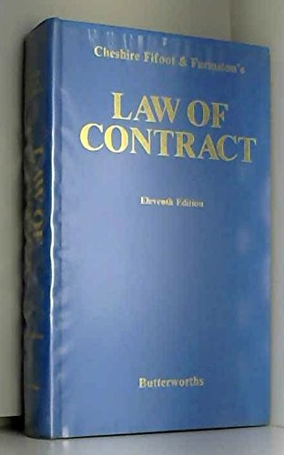 9780406565358: Cheshire, Fifoot, and Furmston's Law of contract
