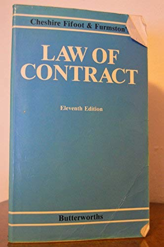 9780406565365: Cheshire, Fifoot, and Furmston's Law of contract