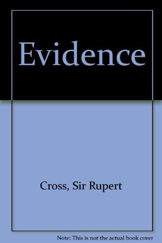 9780406570048: Evidence