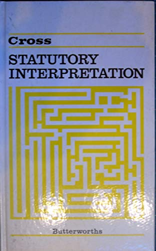 9780406570161: Statutory Interpretation