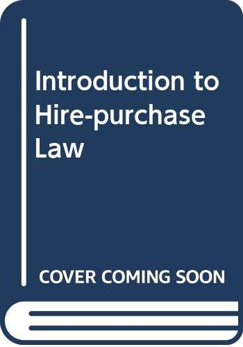 9780406574015: Introduction to Hire-purchase Law