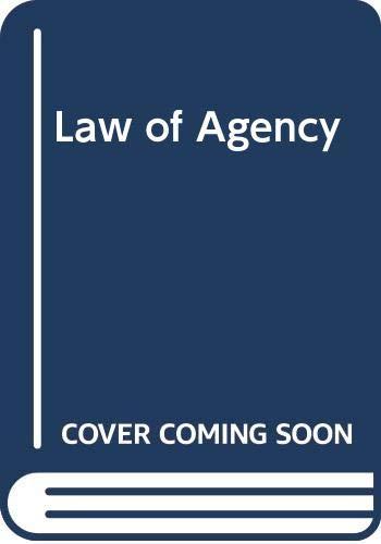 Law of Agency: G.H.L. Fridman