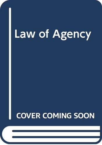 9780406585516: Law of Agency
