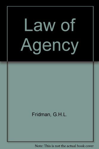 9780406585523: Law of Agency