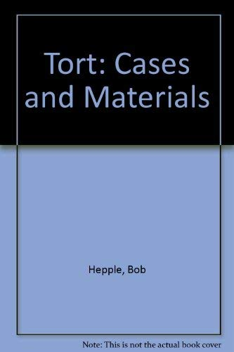 9780406594808: Tort: Cases and Materials