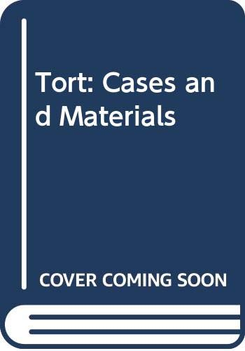 9780406594815: Tort: Cases and Materials