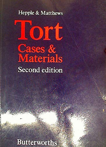 9780406594839: Tort: Cases and Materials