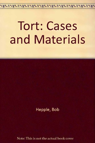 9780406594846: Tort: Cases and Materials