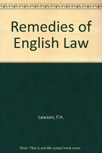 9780406617194: Remedies of English Law