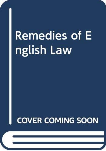 9780406617200: Remedies of English Law