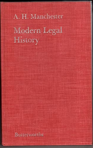 9780406622631: A Modern Legal History of England and Wales, 1750-1950