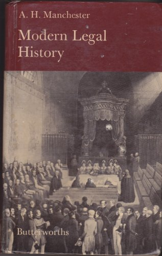 9780406622648: Modern Legal History of England and Wales, 1750-1950