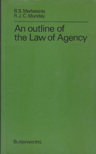 Outline of the Law of Agency: Munday, R. J.