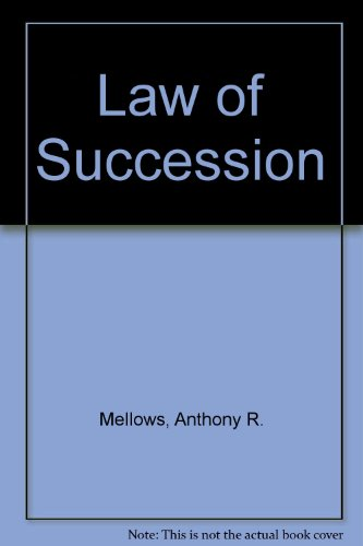 9780406623775: Law of Succession