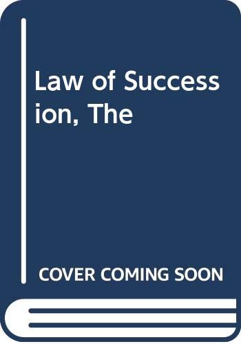 9780406623782: Law of Succession, The