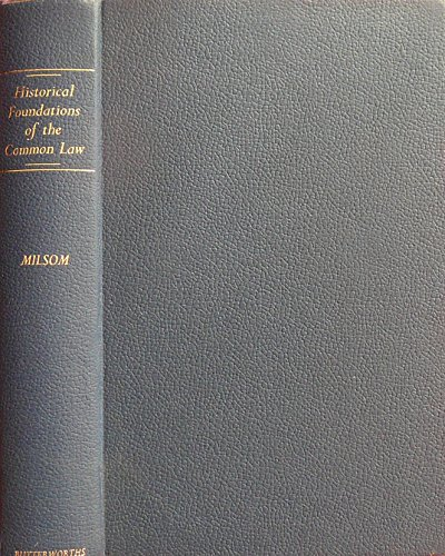 9780406625021: Historical Foundations of the Common Law
